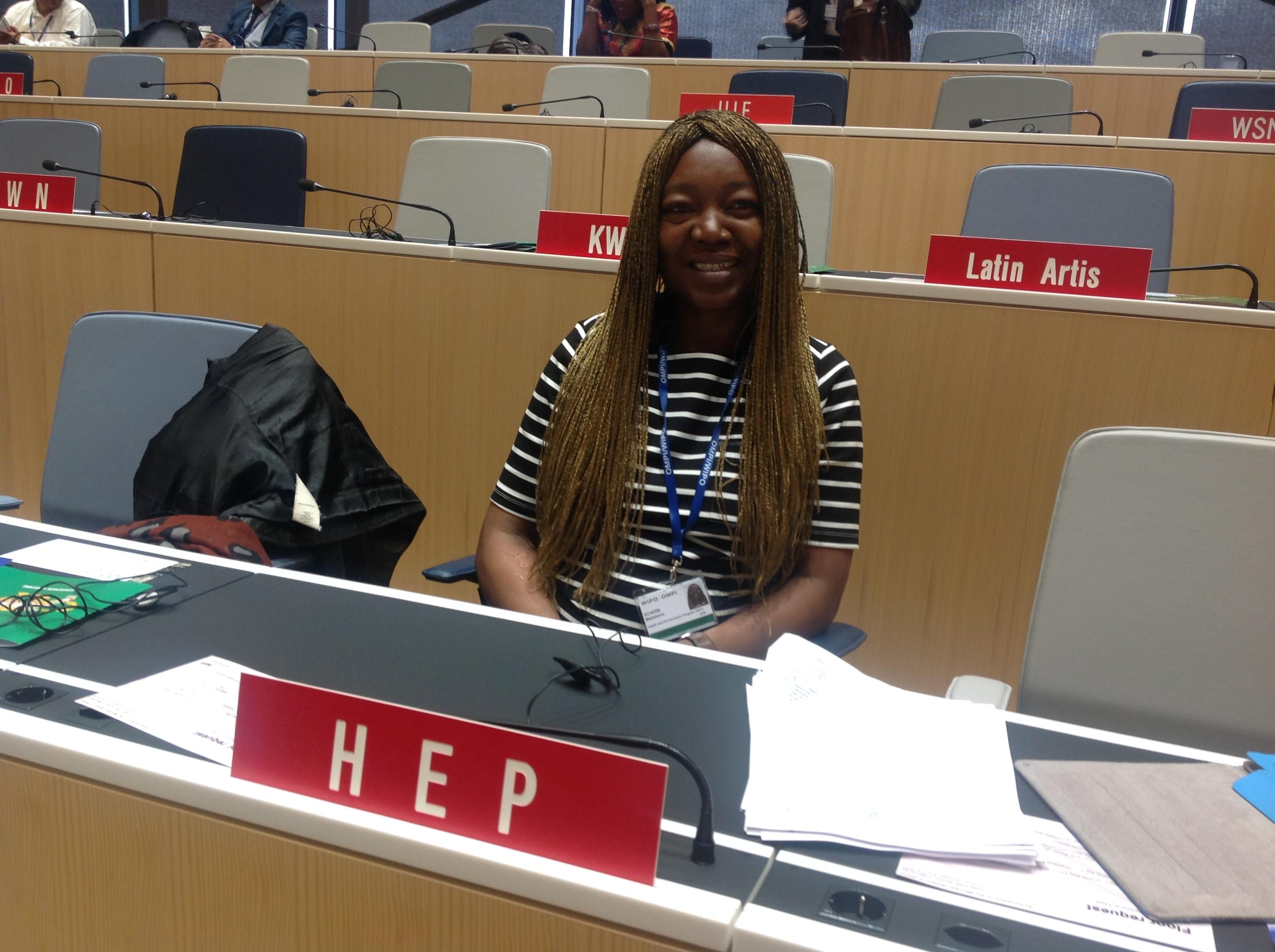 Madeleine Scherb à l'OMPI