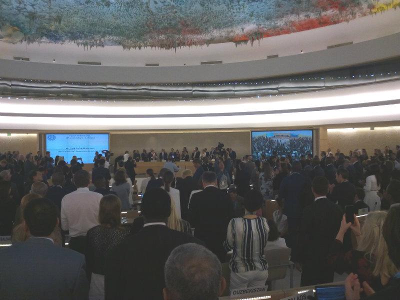 Standing ovation pour Zeid Ra'ad Al-Hussein à la fin de son allocution