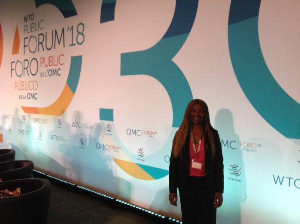 Madeleine Scherb représente HEP au Forum public de l'OMC 2018